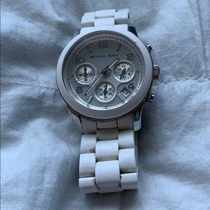 Michael Kors chronograph white ladies watch